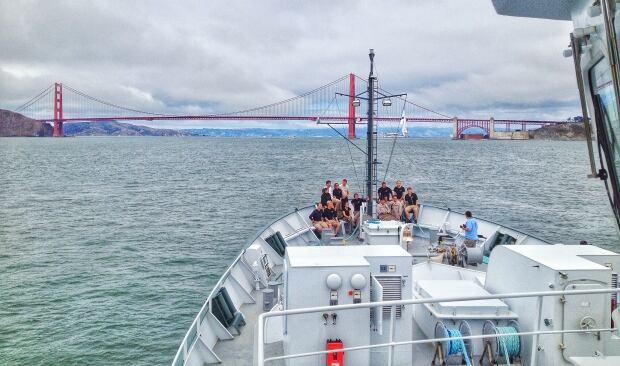 Golden Gate bridge by boat