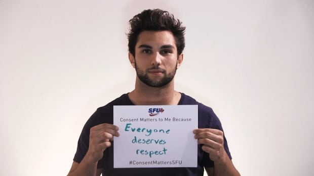 A new sexual violence awareness campaign at Simon Fraser University features varsity athletes.