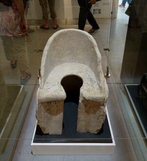Rome Roman toilet latrine