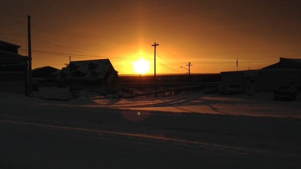 The sun rises in Inuvik, N.W.T., this week about a month after the last sunset. The town will hold its annual Sunrise Festival this weekend.