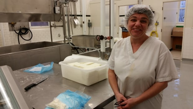 Winnipeg-based Dairy Fairy cheese-maker Galina Beilis makes her creations at the University of Manitoba's dairy plant facility.