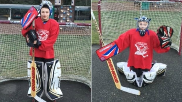Markus Stewart, 12, gears up for the thing he loves '100 per cent': ice hockey.