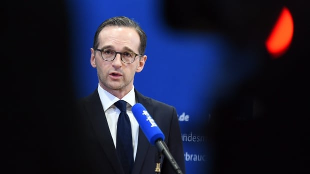 German Justice Minister Heiko Maas delivers remarks in Berlin on the assaults in Cologne, Germany, on New Year's Eve.  He said it is possible the attacks are linked to similar offences in other cities.