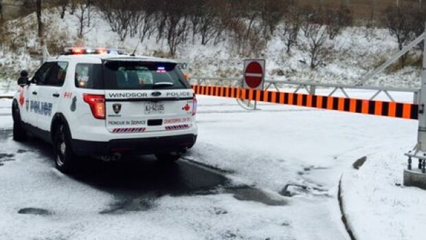 Eastbound E.C Row Expressway was closed for parts of Sunday after a vehicle struck a pedestrian.