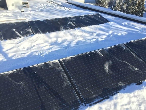 Solar panels on a home in the Hounsfield Heights-Briar Hill area