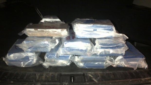 Police sent out this photograph of the cocaine seized in the bust.