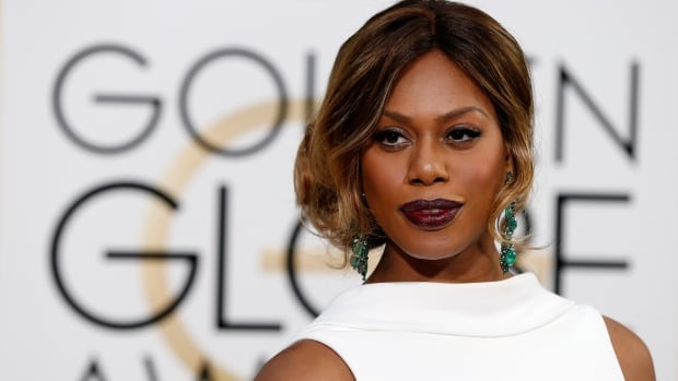 Orange Is The New Black actress Laverne Cox arrives at the 73rd Golden Globe Awards in Beverly Hills, Calif. The Netflix series is nominated for Best TV series, musical or comedy.