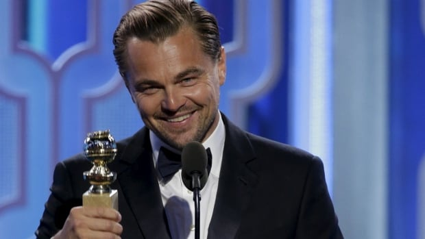 Leonardo DiCaprio holds the Best Actor, Motion Picture, Drama, award for The Revenant at the 73rd Golden Globe Awards in Beverly Hills, California January 10, 2016.
