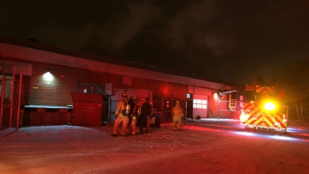 Fire crews were called to the building that used to hold Cochrane High School at 1069 14th Avenue E. on Monday morning.
