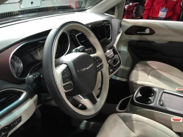 Interior shot of Chrysler Pacifica