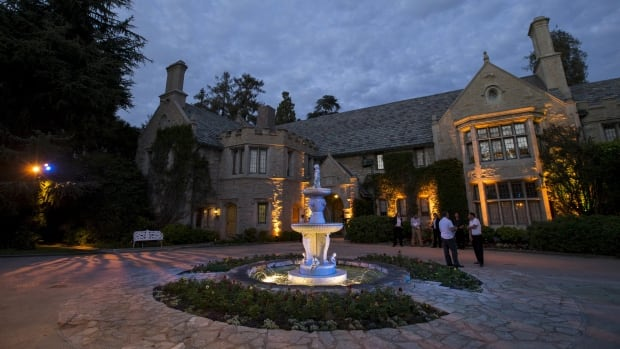 The Playboy Mansion is shown in August. The L.A. mansion is on the market for $200 million.