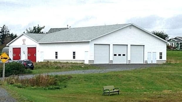 The addition to the Gabarus fire hall is finished on the outside, but not inside.