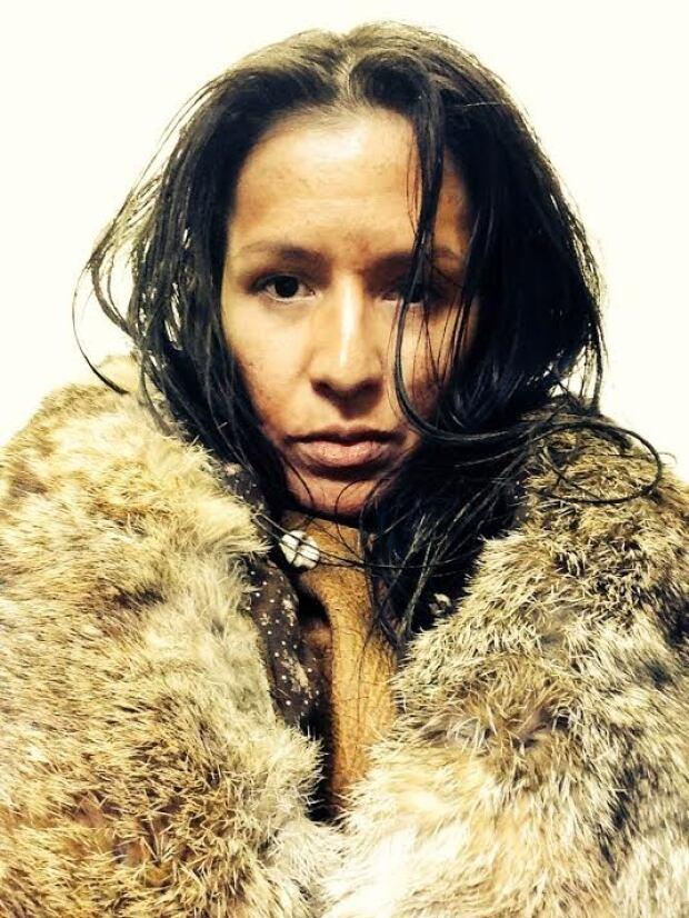 Karlene Cutknife in costume