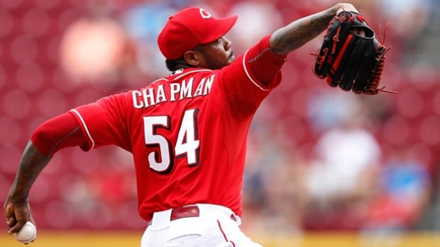 Aroldis Chapman will be the New York Yankees' closer, according to manager Joe Girardi but the strong-armed left-hander may face a suspension for an off-field incident.