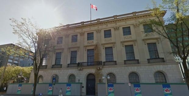 Former U.S. Embassy on Wellington Street in Ottawa