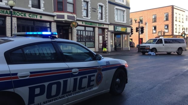 Police have closed a section of Water Street due to the pedestrian knock down.