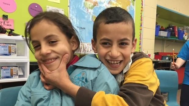 Nine-year-old twins Sidra and Ali Hzim are refugees from Syria. They're now grade four students at Duc d'Anville Elementary School in Halifax.