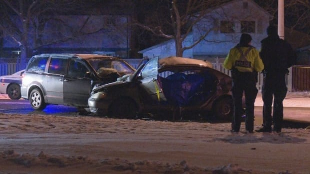Police closed the intersection of Central Park Dr. and Howden Blvd. to investigate a fatal crash Tuesday night.