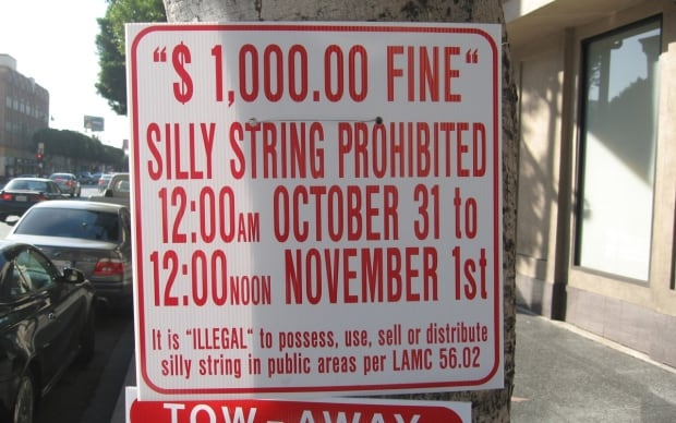 Silly String Prohibited