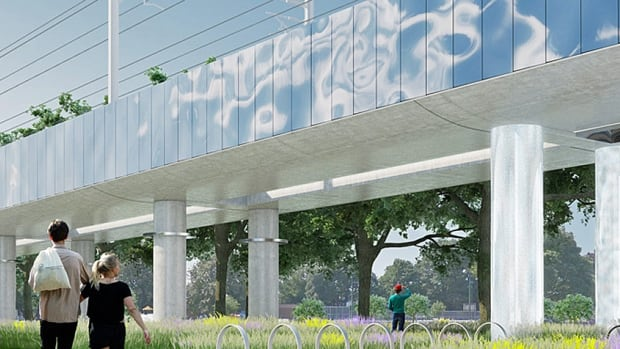Some residents of Toronto's Davenport neighbourhood are concerned about plans by Metrolinx to build an overpass to carry GO Transit trains over the CP rail corridor near Dupont Street and Lansdowne Avenue.
