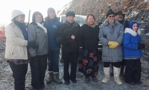 David Suzuki at Site C protest camp
