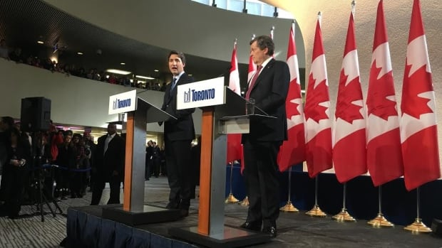 Prime Minister Justin Trudeau and Toronto Mayor John Tory met for 45 minutes today at Toronto city hall. No formal announcement came from the meeting.