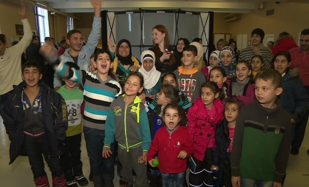 Syrian refugee children in Newfoundland