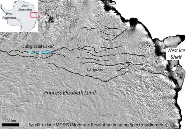 New Canyon in Antarctica