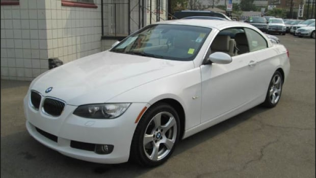 Police are asking for the public's help in determining the whereabouts of this white BMW in the Fort Saskatchewan and Bruderheim areas the week of Jan. 4.