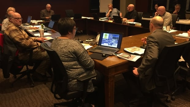 Council members for the Rural Municipality of Sherwood met Wednesday.