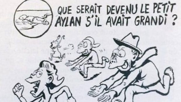 What would Alan Kurdi have become if he had grown up? Charlie Hebdo cartoon suggests he would have been like one of the men who abused women in Cologne on New Year's Eve.