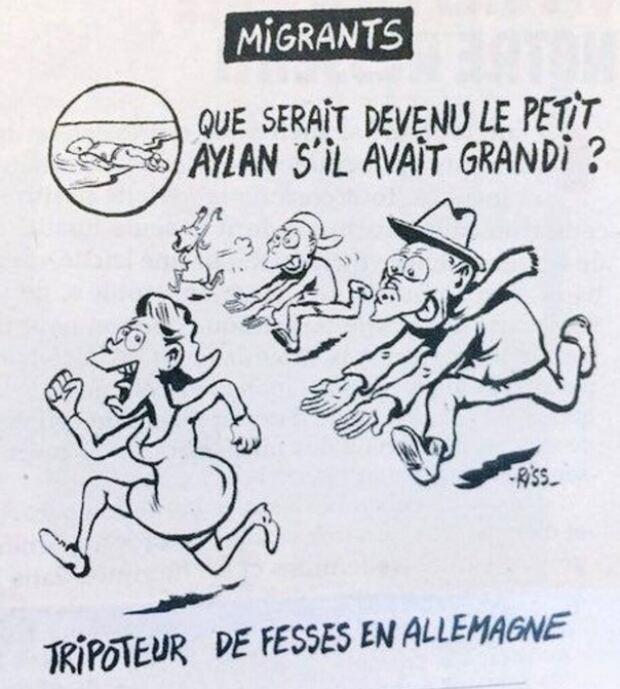 Charlie Hebdo Alan Kurdi