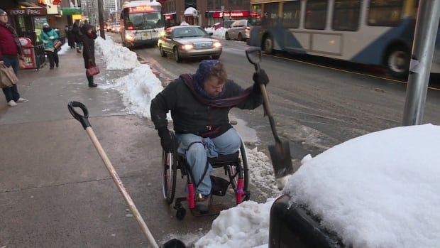 Paul Vienneau says snow clearing on sidewalks in the downtown area have improved a lot since last year.