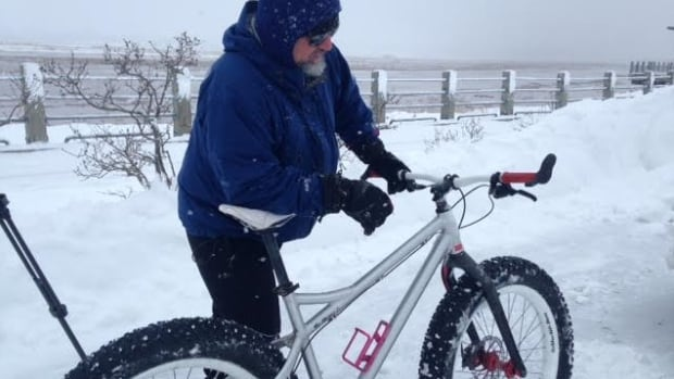 Joey Lamarre has been using his fat bike for two years.