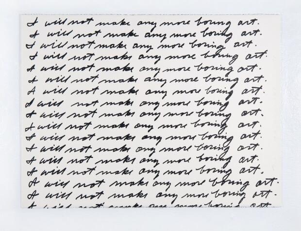 John Baldessari - I Will Not Make Any More Boring Art