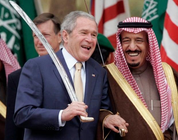 APTOPIX SAUDI ARABIA US BUSH MIDEAST