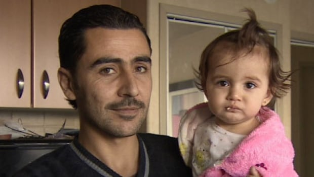 Shahi Alradi is looking for a homes for his family, including his one-year-old daughter Zain Alsham.