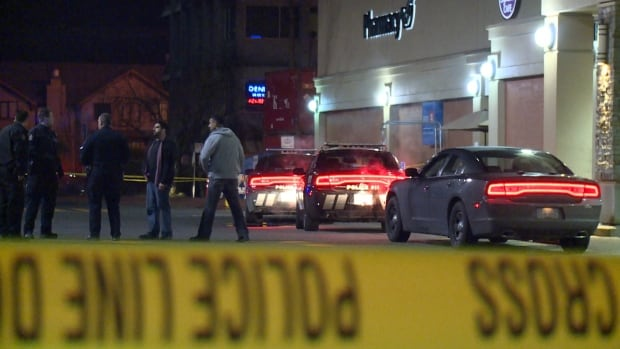 Vancouver police investigate after a man was stabbed near Commercial Drive and Broadway Thursday night.