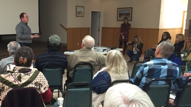 About 30 residents gathered to raise safety concerns about Spray Lakes Sawmills logging truck hauls from the Ghost Lake area west of Cochrane.  The MLA for Banff-Cochrane, Cam Westhead of the NDP, says he understands why people are unhappy.