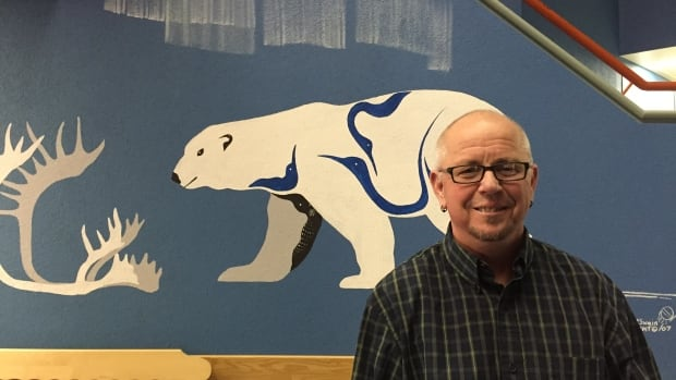 Mickey Wilson, the executive director of the Pride Centre of Edmonton, gave a talk on transgender issues in Yellowknife Thursday night.