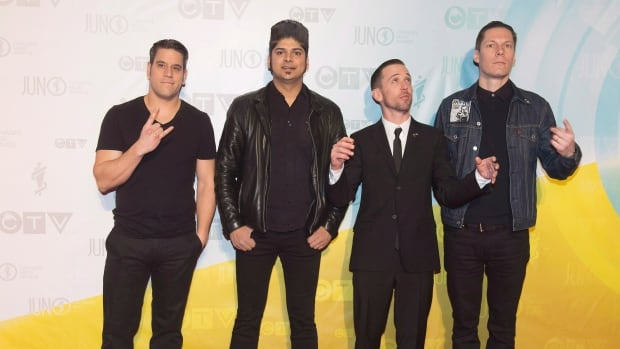 Billy Talent drummer Aaron Solowoniuk, right, is stepping back from the rock quartet (seen at the 2013 Juno Awards) to focus on his health. He was diagnosed with MS in his mid-20s.
