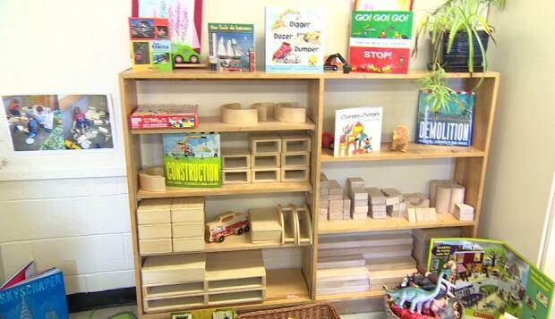 Math and Science area in Kindergarten Demo Classroom