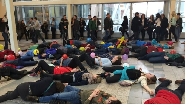 In case you missed up, a spontaneous audio flash mob broke out in a +15 at Bankers Hall today, as part of the month-long High Performance Rodeo. Another one is set for Saturday.