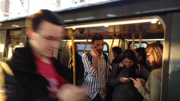 Frustrated commuters at Vancouver's Main St. SkyTrain Station