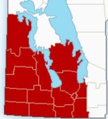 Cold warning southern Manitoba