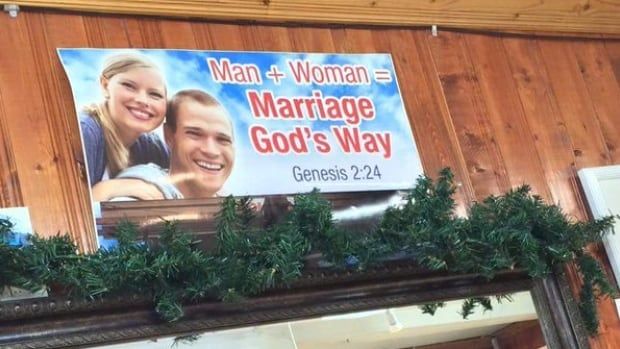 The owner of Today's Jewellers has sparked controversy before with similar anti-gay marriage signs displayed in his store.