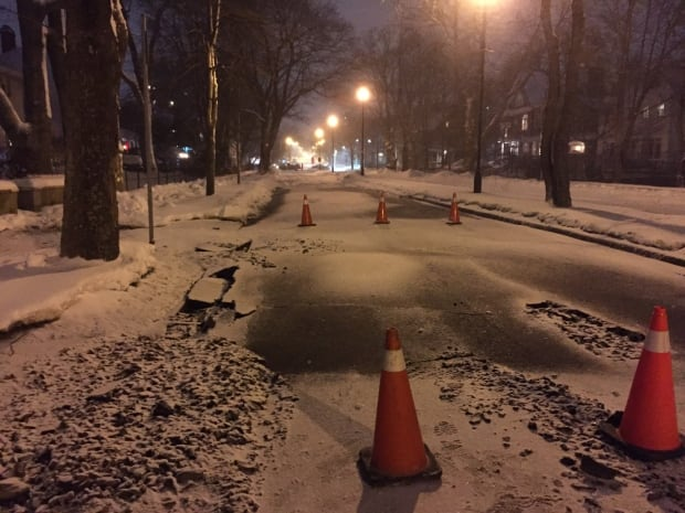 Young Avenue water main break