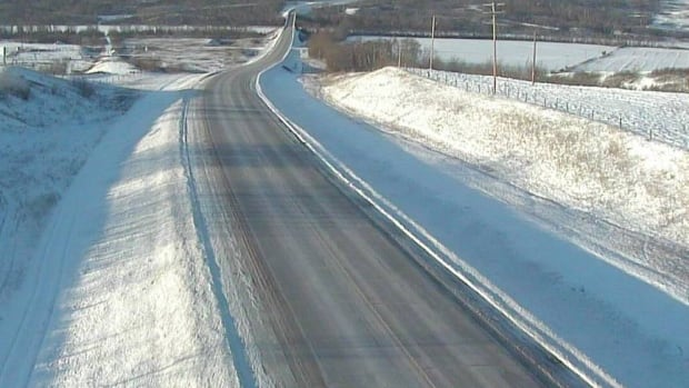 Highway 3, near Paradise Hill, Sask., is looking clear on Sunday, Jan. 17.