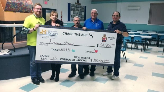 Ernest Green of Little Bras d'Or took home almost $32,000 at Saturday's Sydney Chase the Ace.