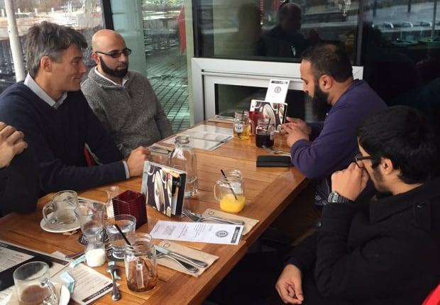 Mayor Gregor, Mohammed Sharaz, Salahuddin Sharaz and Mohammed Kareem